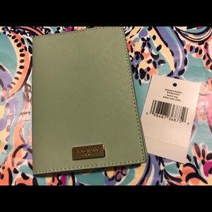 Kate Spade Laurel Way Misty Mint Passport Holder